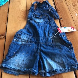 Other - Denim jeans overall with stars. Pocket shorts.